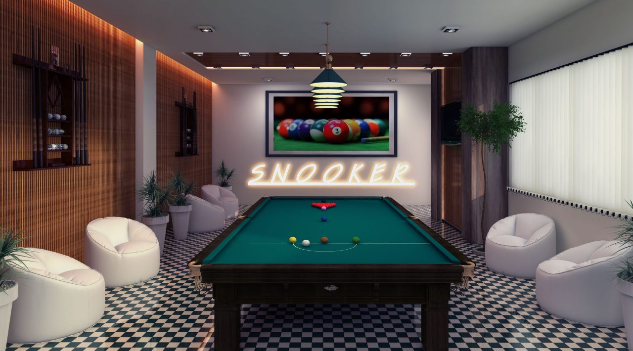 Snooker game playing area in capital icon